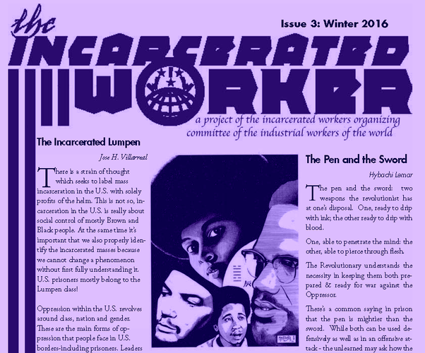 January 2016 Incarcerated Worker Newsletter