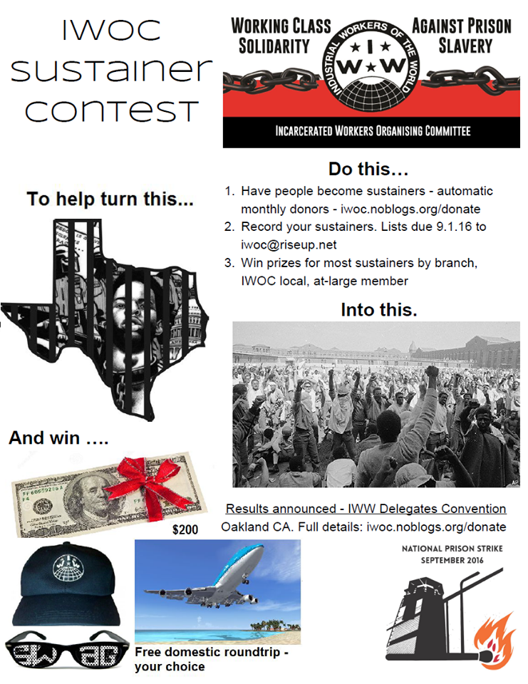 IWOC Sustainer Contest Poster